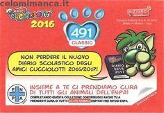 Amici Cucciolotti 2016: Retro Figurina n. 491 Megattera