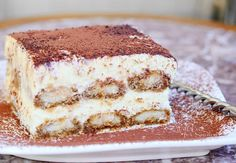 The Best Tiramisu. The Best Tiramisu Recipes Tiramisu is made with layers of espresso dipped Ladyfingers cookies, smooth mascarpone cream with a hint of Amaretto and dusted with cocoa powder. Classic Desserts, Italian Desserts, Just Desserts, Italian Pastries, Tiramisu Dessert, Tiramisu Recipe, Cupcake Recipes, Dessert Recipes, Breakfast Recipes