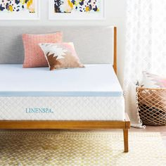 LINENSPA 2-inch Gel Memory Foam Mattress Topper