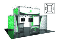 AARHUS - 20 x 20 Island- #Trade#show #Displays #Backwall Call us today for a quote. 1-866-7ULTIMA (1-866-785-8462)