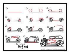 how-to-draw-a-hot-rod.jpg 1,650×1,275 pixels