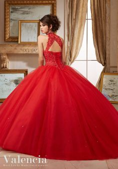 Check out the deal on Valencia 60004 Tulle Quinceanera Dress at French Novelty