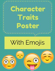 Character Traits Poster FREEBIE! from LC's Corner on TeachersNotebook.com -  (8 pages)  - Displaying our Emoji Character Traits poster is a great way to get your kiddos comfortable with more sophisticated vocabulary, adjectives, and traits.