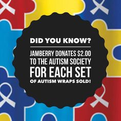 Autism Awareness: Jamberry donates $2.00 for every sheet of charity nail wraps purchased to the Autism Society of America.  https://www.facebook.com/amber.misek.nails