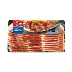 Tyson Thick Cut Naturally Hardwood Smoked Bacon, 16 oz (960 MXN) ❤ liked on Polyvore featuring home, kitchen & dining and food