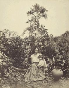 ANTES DE TEMPO: Agosto 2005  Albert Frisch, Mère et enfant métis dans la région du Rio Negro, Amazonia, cerca de 1865