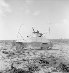 A Marmon Herrington Mark II armoured car, used as a mobile wireless telegraphy post by the RAF Wireless Observer Units in the Western Desert.