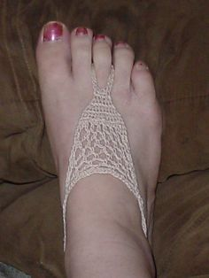 Ravelry: Barefoot Beach Sandals in Thread Crochet pattern