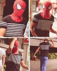 Louis, are you spiderman or superman? OR BOTH. and Liams batman. oh gosh...and it all makes sense to me.