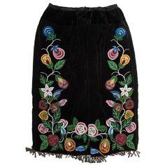 Anishinaabe [Ojibwe] Beaded Skirt from a Minnesota Collection - Anishinaabe [Ojibwe] Beaded Skirt from a Minnesota Collection by Cowan's Auctions – 295469 Native Beadwork, Native American Beadwork, Native American Clothing, Native American Art, Beads Clothes, Jingle Dress, Ribbon Skirts, Beadwork Designs, Native Style