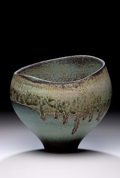 Mary Fox  |  Slopping-lip earthenware bowl, glazed with Lithium compound, and fired in oxidation.