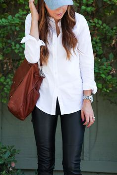 ( link) 20 Ways to Style the Classic White Button-Down Looks Style, Style Me, Basic Fashion, How To Wear Shirt, White Casual, Classic White, Classic Style, White Button Down, Trendy Dresses