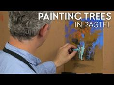 """Many of you have asked me in previous workshops: """"How do you paint trees?"""" Here is my approach to painting trees in pastel. Chalk Pastel Art, Pastel Artwork, Oil Pastel Art, Pastel Drawing, Chalk Pastels, Soft Pastels, Pastel Paintings, Painting Videos, Painting Techniques"""