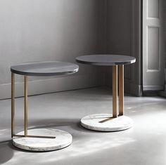 サイドテーブル / 円形 / コンテンポラリー / 漆塗りを施した木製 RALF by Andrea Parisio MERIDIANI