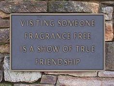fragrance free sign