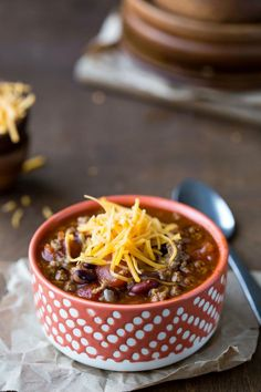 Barbecue Chili Recipe - easy dinner that's so full of flavor! #healthy #meal
