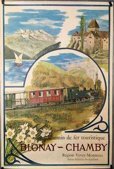 Brand New poster Ships rolled in a sturdy corrugated tube Vevey, Fürstentum Liechtenstein, Tourism Poster, Swiss Railways, Taj Mahal, Vintage World Maps, Switzerland, Painting, Tube
