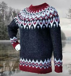 Ravelry: Ragnalla Lopapeysa pattern by Gabi Renggli Double Knitting Patterns, Fair Isle Knitting Patterns, Sweater Knitting Patterns, Knitting Designs, Free Knitting, Baby Knitting, Norwegian Knitting, Icelandic Sweaters, Sweater Design