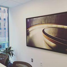 Ribbons by Stephen Smith in meeting room. Ottawa artist, Ottawa photographer, fine art photography, Canadian artist, glass art, SANTINI GALLERY. Ottawa Art Gallery, Canadian Artists, Fine Art Photography, Ribbons, Glass Art, Collections, Room, Bias Tape, Art Photography