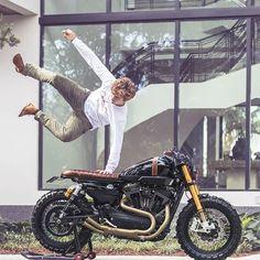 : / Harley Davidson XR 1200 custom build by Cohn Racers (Muscle R) via. American Motorcycles, Custom Motorcycles, Custom Bikes, Motorcycle Tires, Cafe Racer Motorcycle, Harley Davidson Scrambler, Xjr 1300, Yamaha Cafe Racer, 1200 Custom