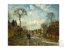 The Street In Louveciennes, 1872 Giclee Print by Camille Pissarro at Art.com
