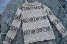 """This chart can be used to make the famous Sarah Lund sweater from the television series, """"Forbrydelse"""" (also aired as """"The Killing""""). Icelandic Sweaters, Knit Basket, Bind Off, Long Torso, Lund, Star Patterns, Yarn Needle, Knitting Designs, Ravelry"""