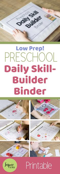 Preschool Daily Skill-Builder Binder - Inspire the Mom