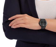 LOVE. City Black Bracelet Watch from #Swarovski