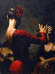 Fabian Perez Flamenco Dancer painting is shipped worldwide,including stretched canvas and framed art.This Fabian Perez Flamenco Dancer painting is available at custom size. Fabian Perez, Shall We Dance, Just Dance, Tango, Spanish Dancer, Spanish Art, Spanish Gypsy, Speak Spanish, Spanish Woman
