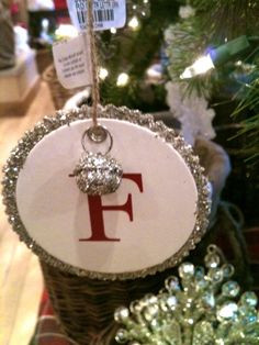 Under The Table and Dreaming: Pottery Barn Inspired Monogram Ornaments featuring Aimee from It's Overflowing {Handmade Ornament No.10}