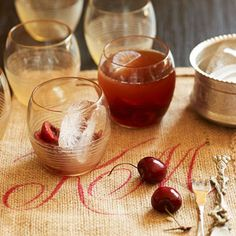 A boozy #HolidayCocktail, the Tennessee Cherry Cocktail! {four ingredients}  // Better Homes and Gardens- #Whiskey #Cherry