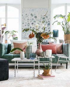 Green Suede, Throw Pillows, Retro, Inspiration, Furniture, Instagram, Home, Pastel, Biblical Inspiration