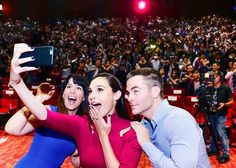 "Gal Gadot, Patty Jenkins and Chris Pine at a press show ""«Wonder Woman» in Shanghai"