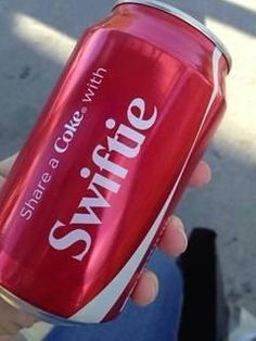 """Swiftie"" is on Coke cans! I need to find one! :D AAAAAHHHHHH!!!!!!! but seriously, AAAAHHHHHH!"