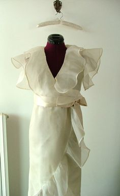 Liberty Style Wedding Gown / Vintage 80s Italian by PittiVintage, $265.00