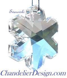 swarovski snowflake chandelier crystal clear 25mm lead crystal one hole