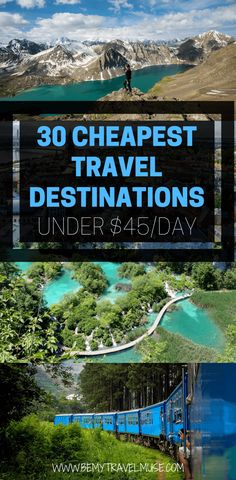 The Cheapest Travel Destinations In the World in 2020 - If you are planning a trip on a tight budget, here are 30 affordable destinations around the world, - Cheap Places To Travel, Cheap Travel, Budget Travel, Travel Tips, Europe Budget, Travel Essentials, Travel Ideas, Quick Travel, Top Travel Destinations