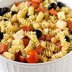 Italian Pasta Salad...I've been making this salad for years, and never thought to add chickpeas to, until now!  Next time, in go garbanzos...