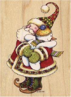 Santa and Snowman ©ME