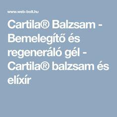 Cartila® Balzsam - Bemelegítő és regeneráló gél. Ez is kellhet a futáshoz!