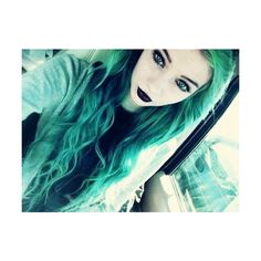 pastel goth girl Tumblr We Heart It ❤ liked on Polyvore featuring accessories, hair accessories, hair et gothic hair accessories