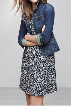 One Piece. Instant Outfit. Like this dress with the denim jacket.  I have the jacket.
