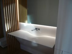A spacious sink gets a modern look, featuring the Fantini Milano faucet. Featured in a Vancouver private residence, designed by FNDA Architecture.