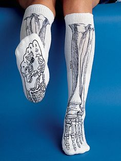 Anatomically correct bone socks