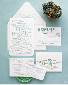 Lovely Wedding Invitations and Stationery Ideas for Inspiration - MODwedding