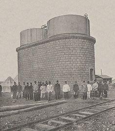 [Ottoman Empire] Hejaz Railway, Water Tank in Daraa, Syria, 1903 (Hicaz Demiryolu, Dera'da Su Deposu)