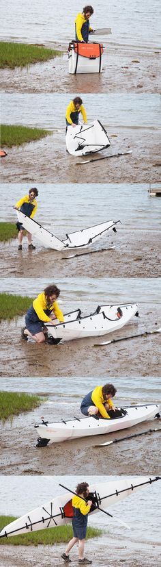Inspired by origami, the Oru Kayak is made from double layered polypropylene that's engineered to fold up and be carried like luggage.