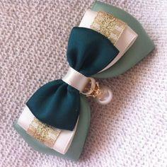 绿茶不婊|手工原创 蝴蝶结蕾丝缎带发夹 发圈头绳 森女系 日韩