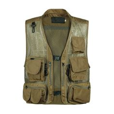 2019 Photography Vest for Men Summer Multi-Pocket Tactical Military Camouflage Mesh Vest Men Breathable Shooting Vest Jacket Camping Outfits For Women, Summer Camping Outfits, Military Vest, Military Camouflage, Fishing Vest, Fly Fishing, Men's Waistcoat, Hunting Jackets, Hunting Vest
