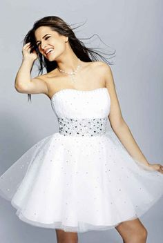 vestido de 15 corto blanco